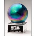 Metallic Prism-Effect Art Glass Globe Award